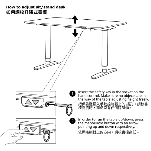 BEKANT - corner desk right sit/stand, 160x110cm, black stained ash veneer white | IKEA Hong Kong and Macau - 69398880_S4