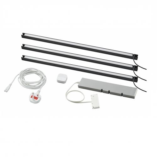 TRÅDFRI/SKYDRAG - Led櫃台板抽屜燈照明套装, 炭黑色 | IKEA 香港及澳門 - 59420358_S4