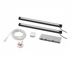 TRÅDFRI/SKYDRAG - Led櫃台板抽屜燈照明套装, 炭黑色 | IKEA 香港及澳門 - 89420347_S3