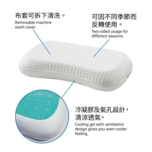 KLUBBSPORRE - ergonomic pillow, multi position | IKEA Hong Kong and Macau - 80446097_S4