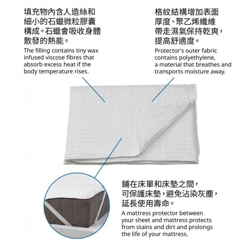 ROSENVIAL - 雙人床褥保護套 | IKEA 香港及澳門 - 10462284_S4
