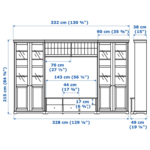 LIATORP - TV storage combination, white | IKEA Hong Kong and Macau - 19228767_S4
