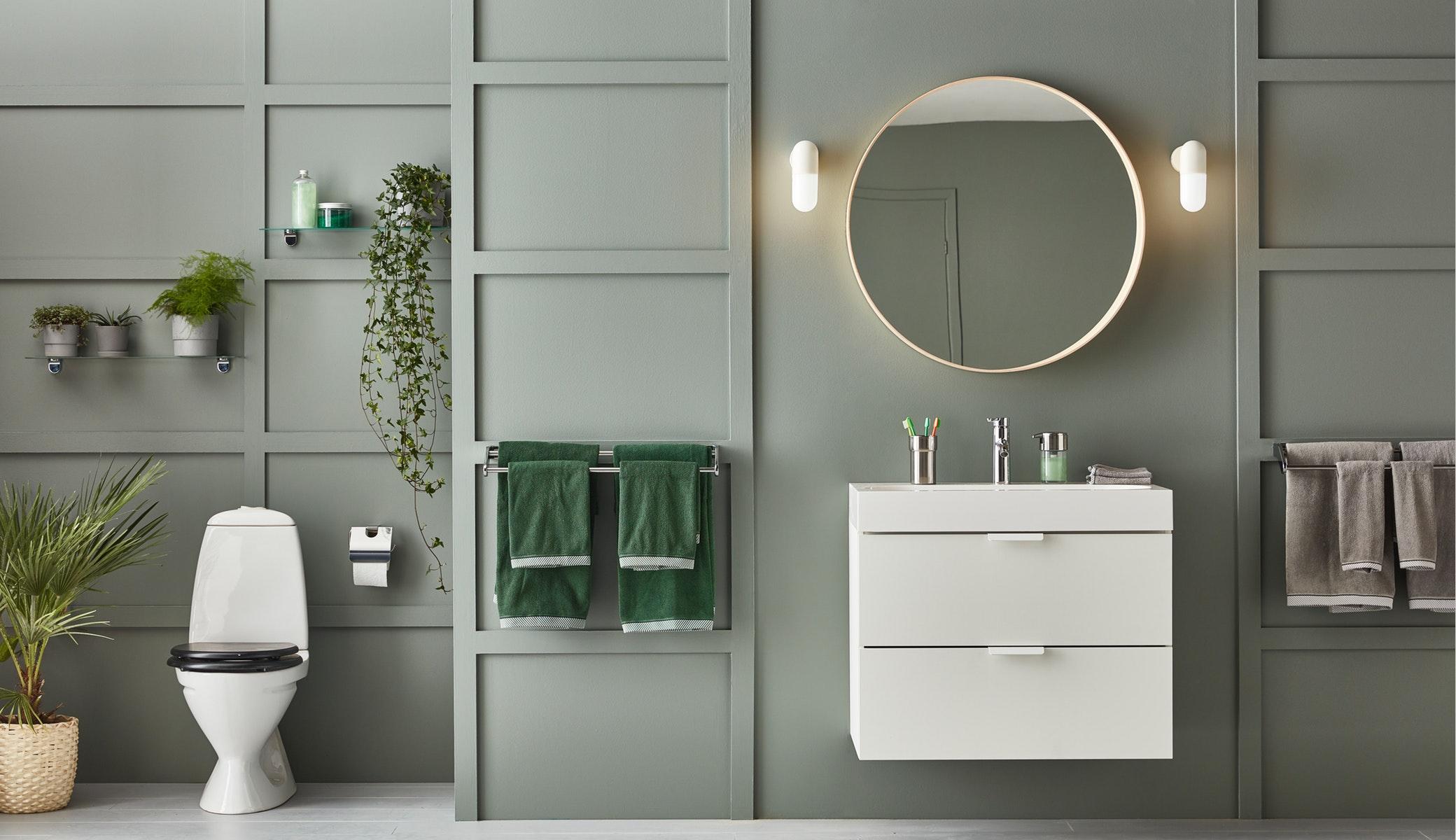 時尚的KALKGRUND浴室配件採用耐用的鍍鉻飾面,令浴室感覺立即煥然一新,而且容易清潔,更可防銹。