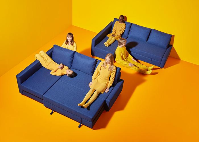 Ikea-Corner-sofa-bed-with-storage