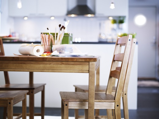 ikea-dining-table-and-four-chairs