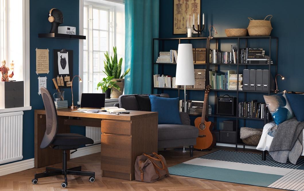FLINTAN office chair, LINNMON / ALEX computer desk