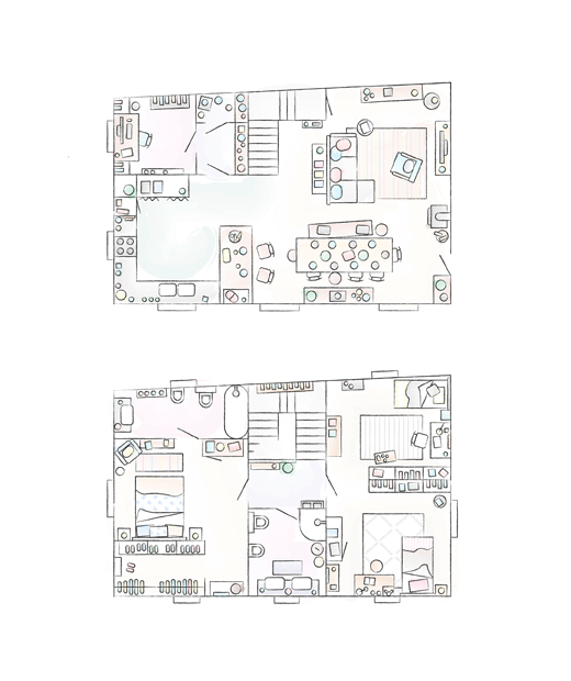 A floorplan of Sarah's home.