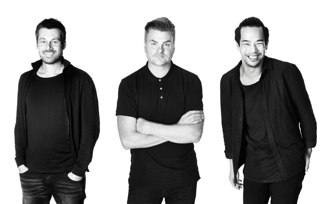 宜家家居產品設計師Andreas Fredriksson、Jonas Hultqvist和Willy Chong。