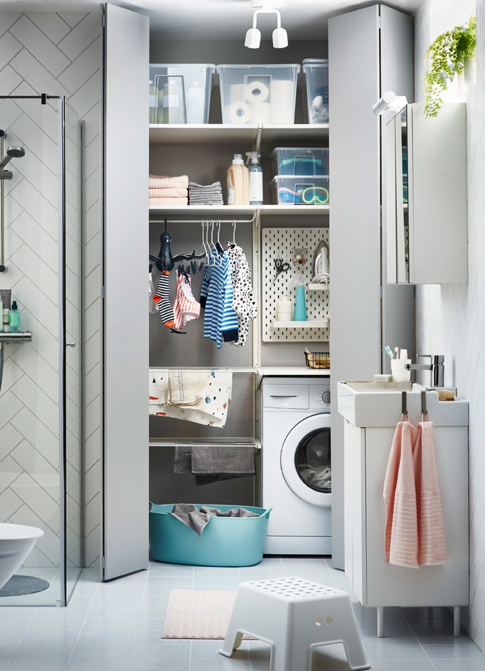 The mini laundry room