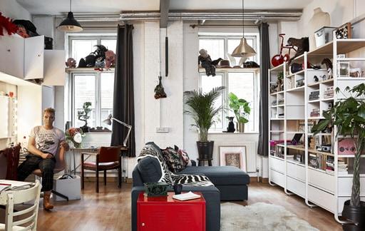 參觀集生活、工作及娛樂空間於一身的開放式公寓