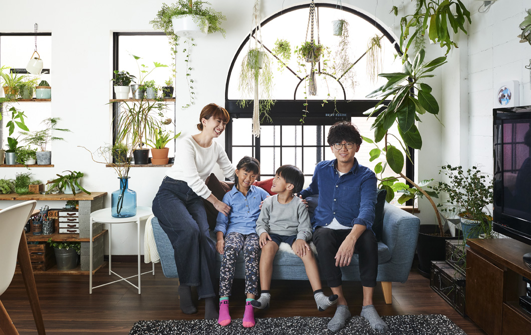 Home visit: a family house organised for wellbeing