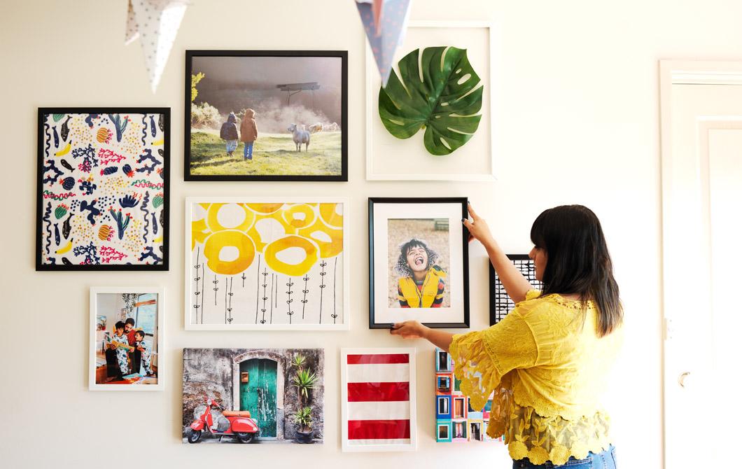 家居巡禮:如何打造簡易照片牆